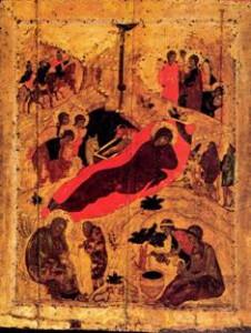 икона Рублева рождество христово
