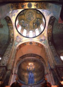 Роспись купола в Софии Киевской