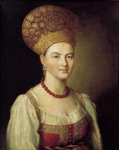 портрет неизвестной в крестьянском костюме