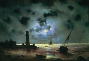 Берег моря ночью, худ. И.Айвазовский