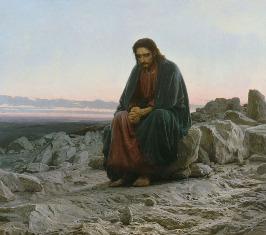 """И.Крамской. """"Христос в пустыне"""""""
