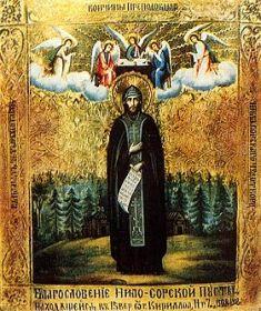 Нил Сорский, икона 1908