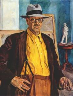 """П.Кончаловский. """"Автопортрет в желтой рубахе"""""""