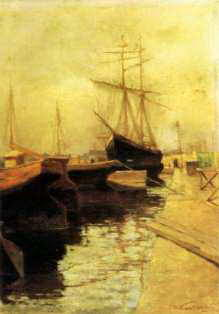 Кандинский В. Одесса.Порт, 1898.