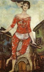 М.Шагал. Акробатка, 1930