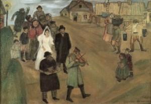 М.Шагал. Русская свадьба, 1909
