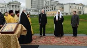 Церемония закладки камня на Боровицком холме