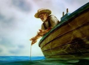 """кадр из м\фильма """"Старик и море"""""""